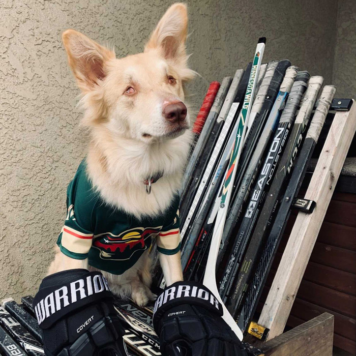Samoa in her hockey gear!