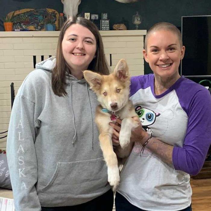 Amanda with Samoa on Adoption Day!