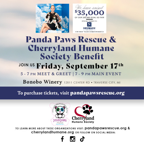 Save the Date for this Panda Paws Rescue Event